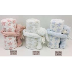 NOVA Baby Blanket With Toys -  Rabbit 75x100CM - Beige