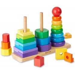 لعبة تكديس هندسية للأطفال بسن المشي من ميليسا آند دو