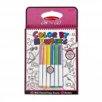 Melissa & Dough On the Go Color by Numbers Kids' Design Boards With 6 Markers