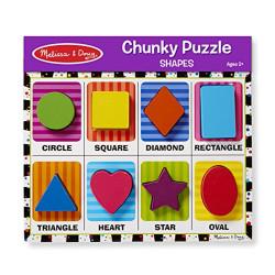 Melissa and Doug Shapes Chunky Puzzle