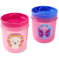 Skip Hop Two Zoo Tumbler Cups (Butterfly/Llama)