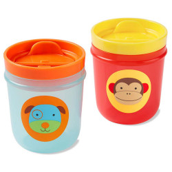 Skip Hop Two Zoo Tumbler Cups (Monkey/ Dog)