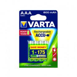 Varta AAA Rechargeable Accu Battery NiMH 800 mAh (4 Pack)