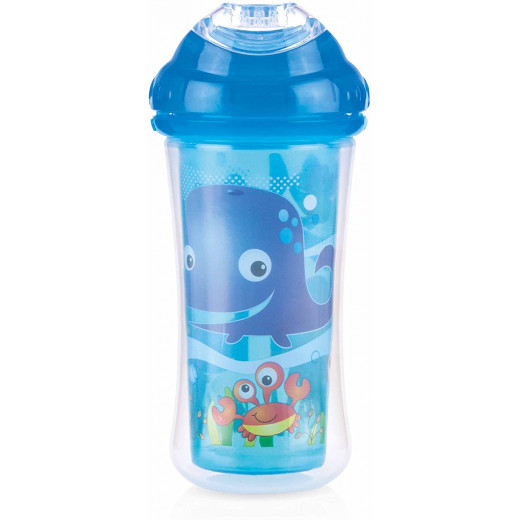 Nuby Insulated No-spill Clik-It Cool Sipper - 270 ml, Blue