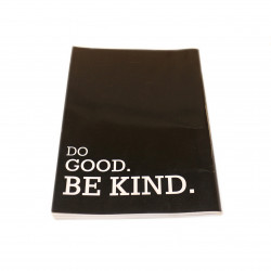 ABC Sleeved Notebook Arabic 80 pages, Black Cover - Do Good Be Kind