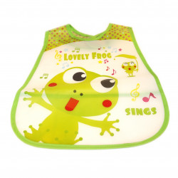Plastic Baby Bib Waterproof, Lovely Frog