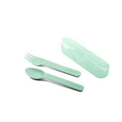 Suavinex Cutlery Set With Carrying Case Green