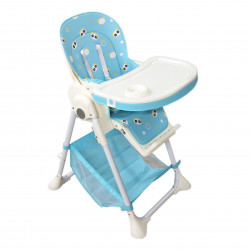 Hight Chair For Babies +6 m Without Wheels - Blue Color