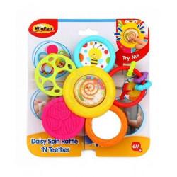 Winfun Daisy Spin Rattle 'n Teether