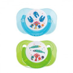 Farlin Tritan Pacifier -g- 6m+, Blue&Green