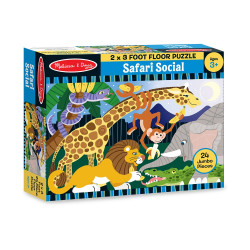 Melissa & Doug Safari Social Floor Puzzle (24pc)