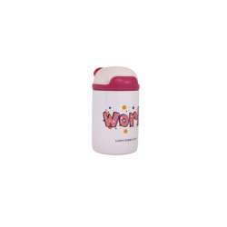 Thermos Steel Water Cup 200 ml - Pink