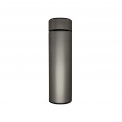 Insulated Water Bottle, Thermos Shape, Silver, 500 ml