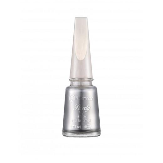 Flormar - Light Silver Pearly Nail Enamel 102