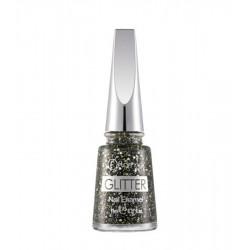 Flormar Glitter Nail Enamel GL05 Black Diamonds 11ml