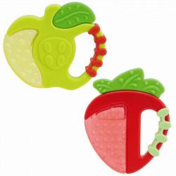 عضاضة التسنين (4 شهور +) بتصميم التفاح أو الفراولة من تشيكو, عبوة 1
