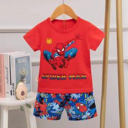 Half Sleeves T-Shirt & Short Pants Pajama Set, Spider Man Design, 1 Year
