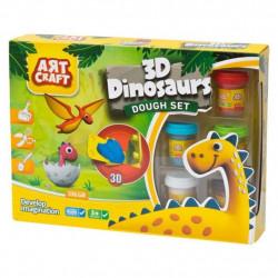 لعبة صلصال مع ادوات تشكيل ديناصور من ارت كرافت، 9 قطع