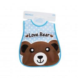 Plastic Baby Bib Waterproof, Love Bear
