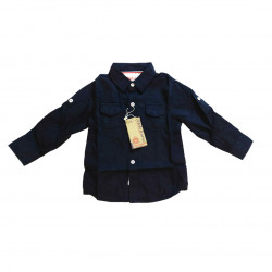 Navy Blue Long- Sleeves Shirt for Boys +9 Months