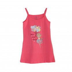Pink Short Dress With Design Hello Little Princess 3-4 Years