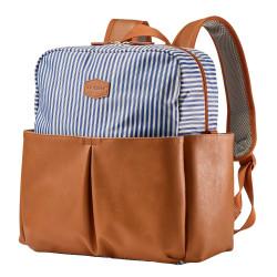 حقيبة ظهر للحفاضات مربعة الشكل من جي جي كول ، ازرق