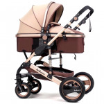 Belecoo Brand High View Baby Stroller 2 In 1 Carriage With Car Seat