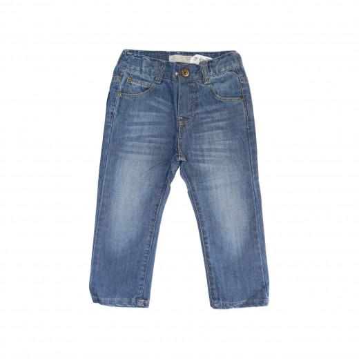 جينز تصميم كلاسيكي بخصر مطاطي ، 3-4 سنوات
