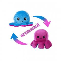 1pc Cartoon Octopus Pet Plush Toy, Blue and Purple