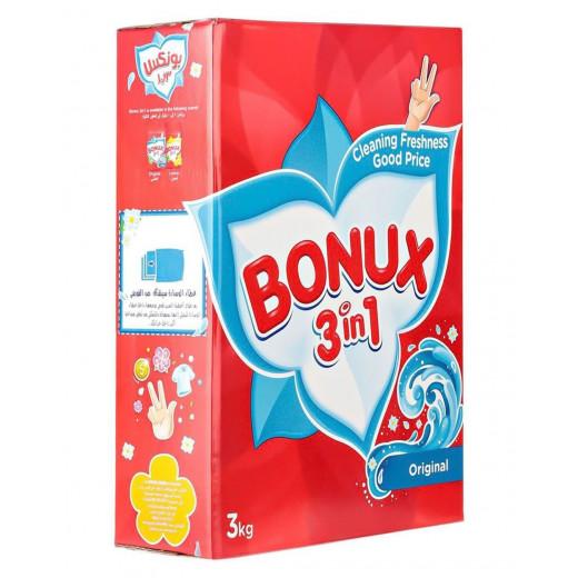 Bonux Original 3 In 1 Detergent Powder - 3 Kg
