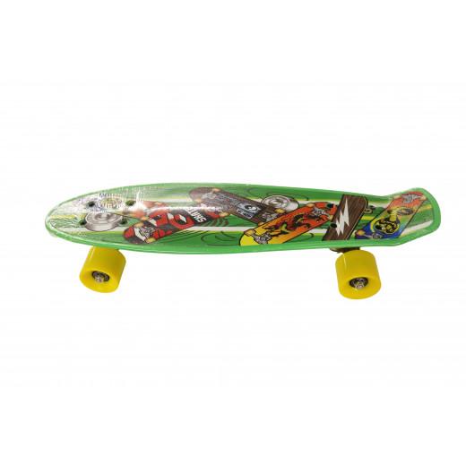 لوح تزلج مزدوج للاطفال والمبتدئين ، أخضر، 55 سم