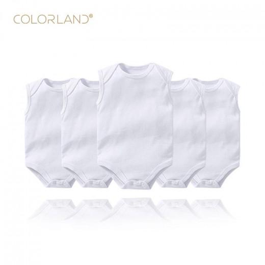 كولورلاند - بدلة أطفال 5 قطع في عبوة واحدة ، 9 أشهر ، أبيض