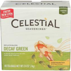 أكياس الشاي الأخضر منزوعة الكافيين 20 قطعة 1.2 أونصة  من سيليستيال سيزونيغز