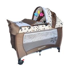 سريرأطفال متحرك من ماما كيدز, لون بني