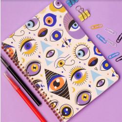 دفتر سلك بتصميم العيون  مقاس A5 من مفكرة